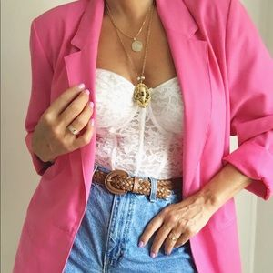 Vintage 90s Iconic Oversized Hot Pink Blazer